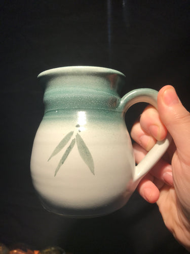 Tea Leaf Pottery Mug