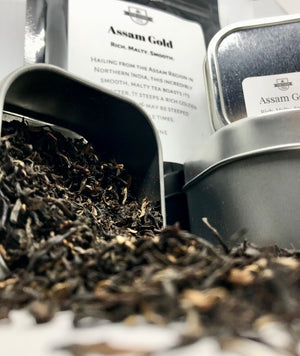 Assam Gold Organic Luxury Loose Leaf Black Tea - The Cove Tea Company - Spruce Grove Alberta Canada