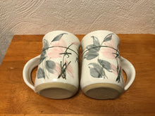 Load image into Gallery viewer, Floral Hand-Thrown Pottery Tea Mug