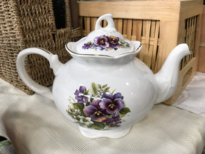 """Mrs. Potts"" Vintage Pansy Teapot"
