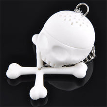 Load image into Gallery viewer, Skull + Bones Silicone Loose Leaf Tea Infuser