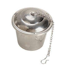 Load image into Gallery viewer, Stainless Steel Mesh Loose Leaf Tea + Spice Infuser with Lid
