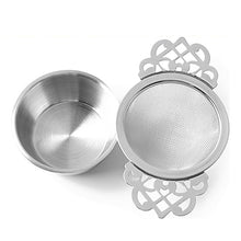 Load image into Gallery viewer, Stainless Steel Double Handle Lace Tea Strainer