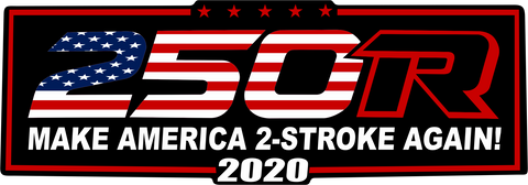 """Make America 2-stroke Again"" Flag Decal"
