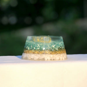 Orgonite Teal and Gold - Mindful Intentions