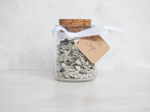 White Sage Herb Jar - Mindful Intentions