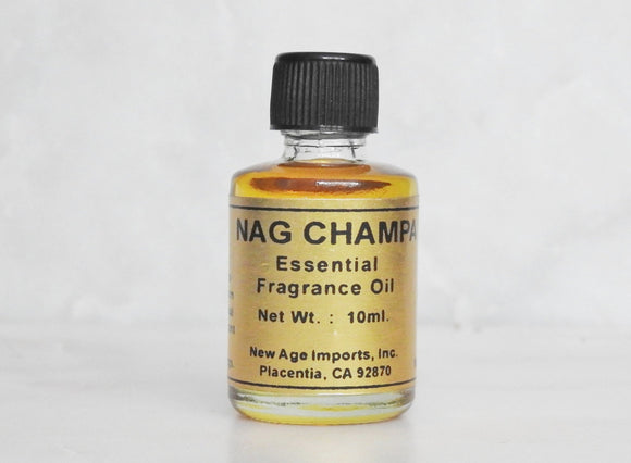 Nag Champa Essential Oil- 10ml Bottle with Detailed Card - Mindful Intentions