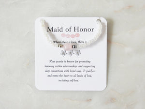 Maid of Honor- Rose Quartz Bracelet - Mindful Intentions
