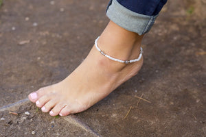 Hope- Grey Quartz Anklet - Mindful Intentions