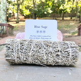 Blue Sage Smudging Stick- Includes Ritual Instruction Card - Mindful Intentions