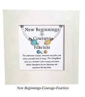 New Beginnings-Courage-Fearless Framed EnergyBand - Mindful Intentions