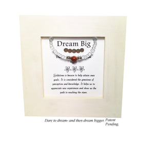Dream Big- Goldstone Kid's Framed Bracelet
