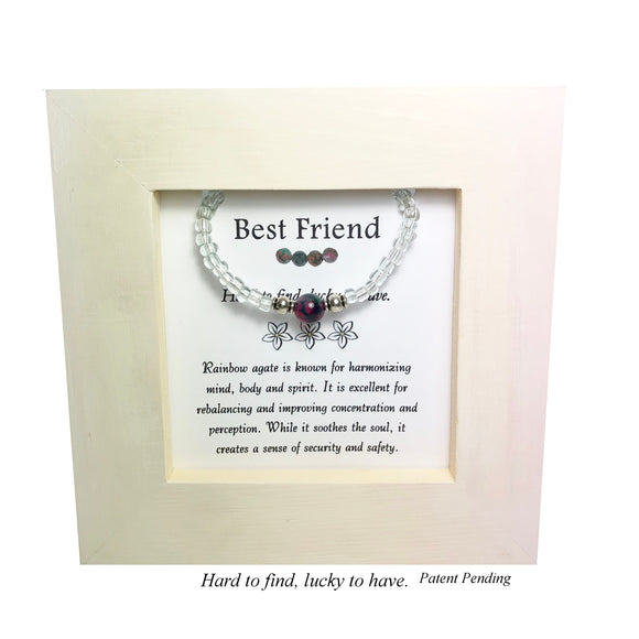 Best Friend- Rainbox Agate Kid's Framed Bracelet - Mindful Intentions