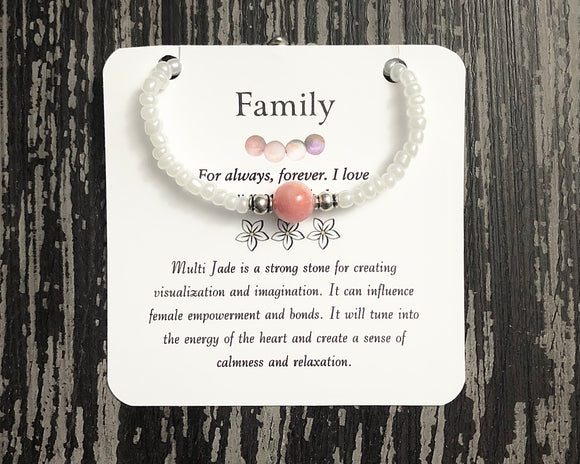 Family- Multi Jade Bracelet - Mindful Intentions