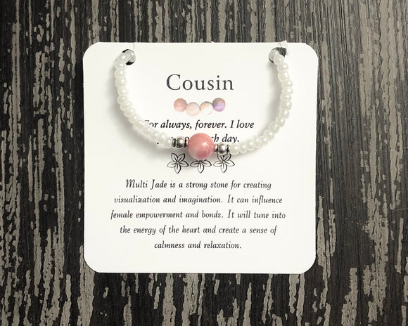 Cousin- Multi Jade Bracelet - Mindful Intentions