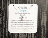 Pink Opalite Dainty Necklace - Mindful Intentions