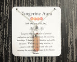 Tangerine Aura Necklace- Sterling Silver Gemstone Necklace - Mindful Intentions