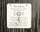 White Shell Moon Necklace- Gold - Mindful Intentions