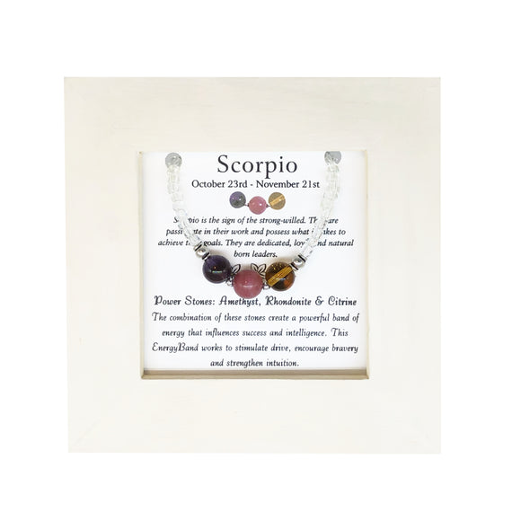 Scorpio- Zodiac Framed EnergyBand - Mindful Intentions