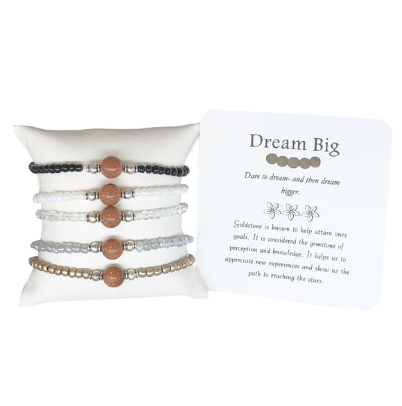 Dream Big- Goldstone Bracelet