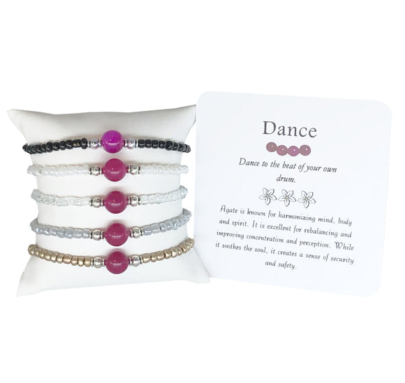 Dance- Pink Agate Bracelet - Mindful Intentions