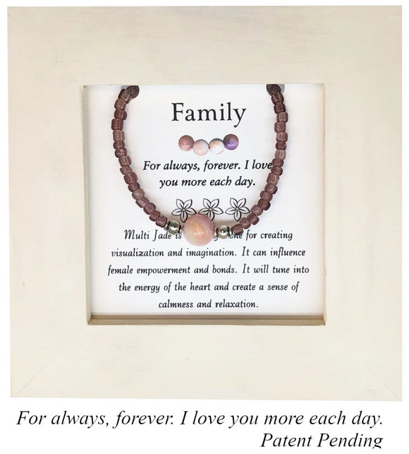 Family- Multi Jade Framed Bracelet