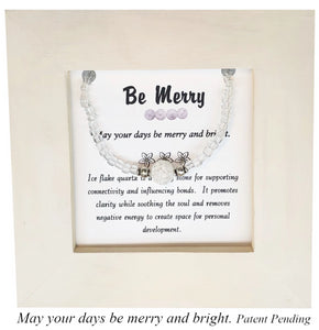 Be Merry- Ice Flaked Quartz Framed Bracelet
