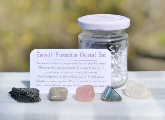 Empath Protection Crystal Jar Set - Mindful Intentions