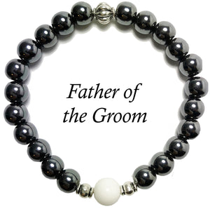 Father of the Groom- Men's Agates Bracelet