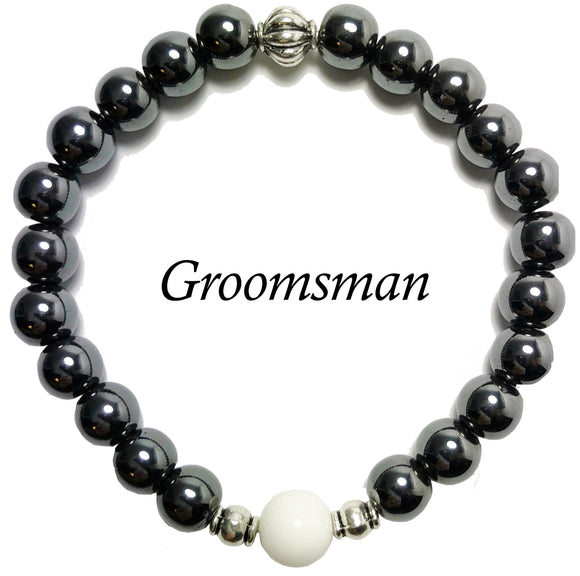 Groomsman- Men's Agates Bracelet - Mindful Intentions