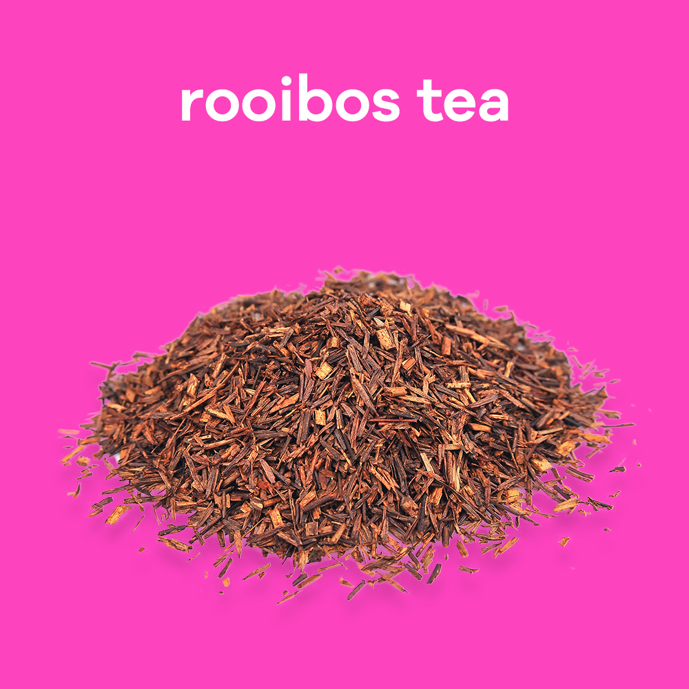 African rooibos tea aids in digestion, reduces inflammation and soothes and calms inflamed skin.