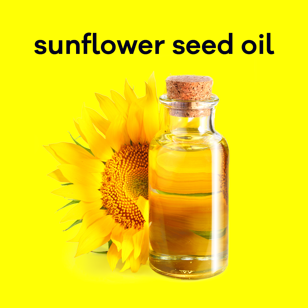 Sunflower seed oil is an excellent moisturizer and absorbs easily leaving no oily residue.