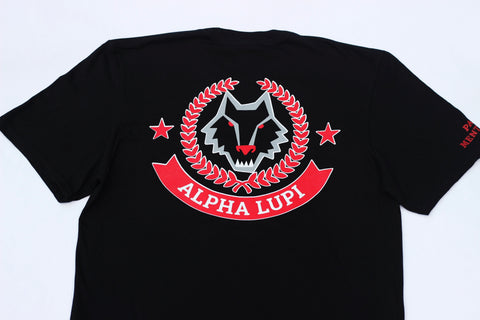 "Black Alpha Lupi ""Pack Mentality"" Tees 2.0"