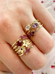 Wink Gemstone and Diamond 14k Diamond Rings