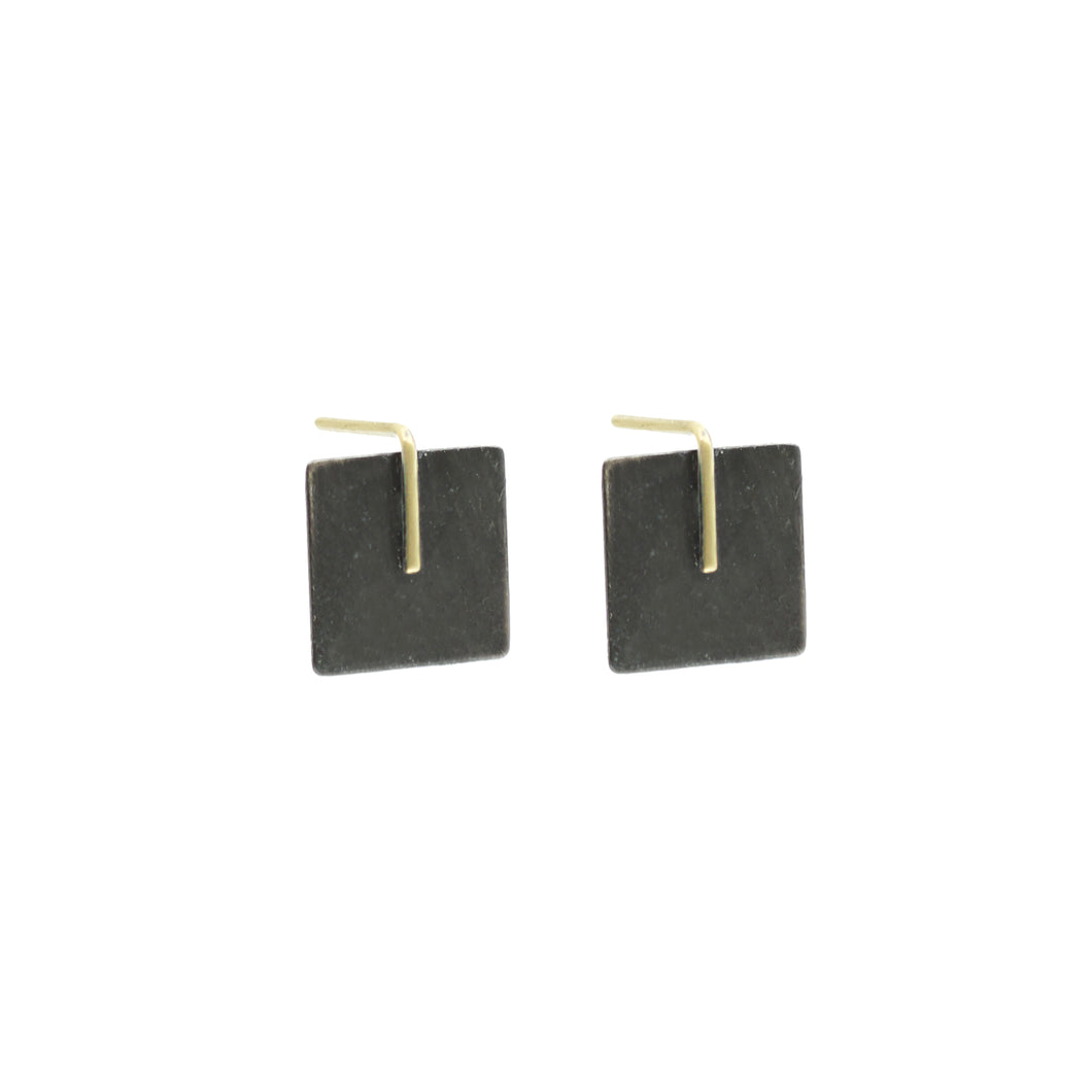 Small Square Black and Gold Posts
