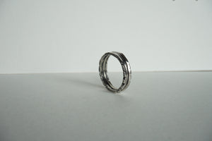 Sterling silver ring with texture on all sides size 6.5