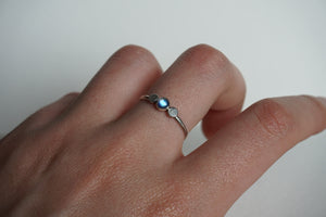 Sterling silver stacker ring with moonstone size 9