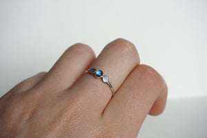 Sterling silver stacker ring with labradorite