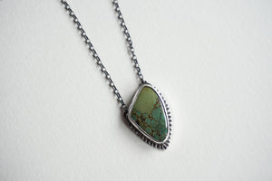 Manassa turquoise bezel set necklace 20""