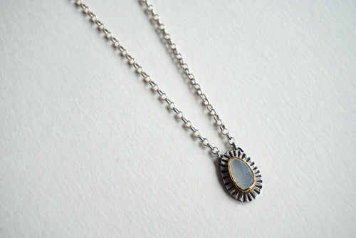 Moonstone with gold and silver necklace 20