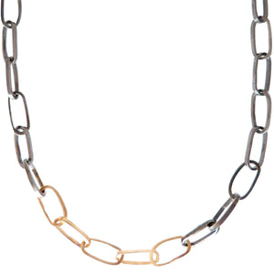 Heavyweight Black and Gold Chain Necklace
