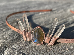 Labradorite and Quartz Crystal Tiara