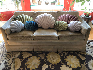 Large Shell Pillow- Coral