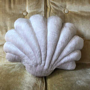 Small Shell Pillow- Light Blue