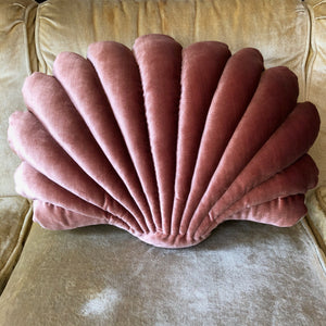 Large Shell Pillow- Rust