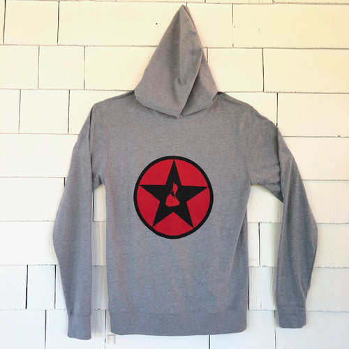 Grey Zip-Up Blockstar hoodie shirt