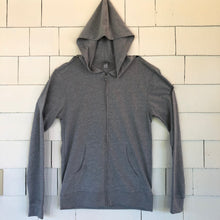 Load image into Gallery viewer, Grey Zip-Up Blockstar hoodie shirt