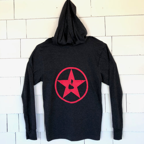 Dark Grey Blockstar Pullover Hooded Shirt