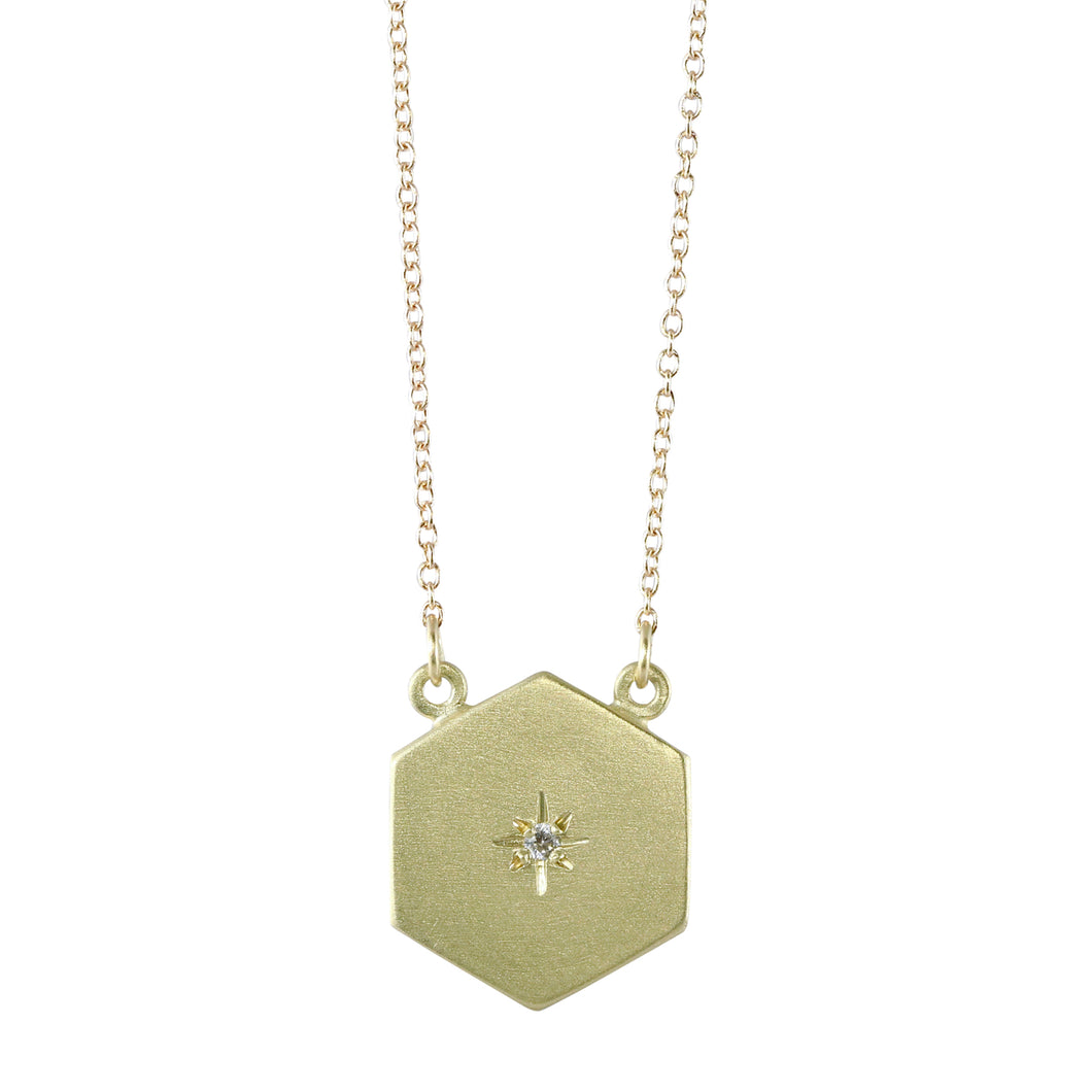 Starry Sky Hexagon Necklace