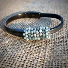 Load image into Gallery viewer, Metal and Leather Beaded Bracelet- Medium